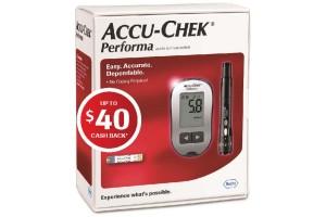 Accu-Chek Performa Blood Glucose Meter & Lancing Device +  Up To $40 Cash Back Coupon