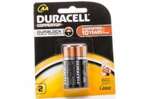 Duracell AA Batteries PK 2 - Coppertop