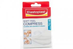 Elastoplast Soft Feel Compress 8.5cm X 5cm PK 10 - 46793