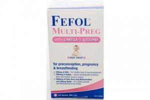 Fefol Multi -Preg- 60 Soft Capsules With Omega 3 & Iodine