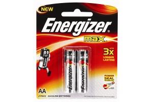 Energizer Max AA PK 2 -Alkaline Batteries