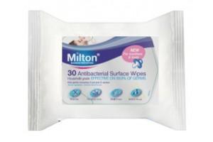 Milton Baby Antibacterial Surface Wipes 30PK