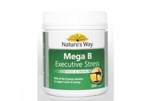 Natures Way Mega B 200 Tablets Executive Stress & Energy