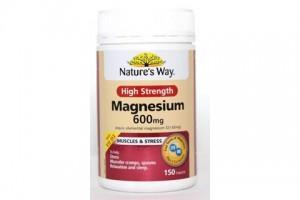 Natures Way Magnesium High Strength 600mg 150 Tabs PK