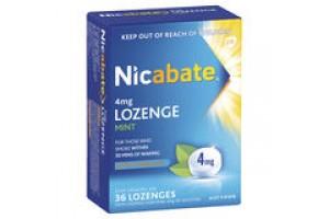 Nicabate 4mg Mint Lozenge 36PK--Extra Strength