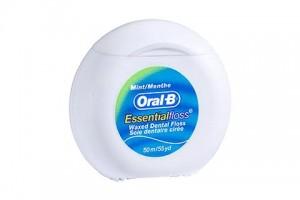 Oral B Essential Floss 50m -Waxed Dental Floss