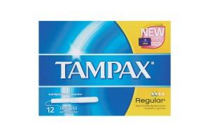 Tampax Tampons Regular 12 PK With  Applicator