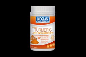 Bioglan Organic Turmeric 1000mg 100 Tablets