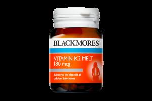 Blackmores Vitamin K2 Melt 180mcg 30 Vanilla Melts PK