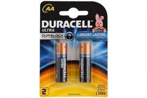 Duracell Ultra AA Batteries Alkaline PK 2