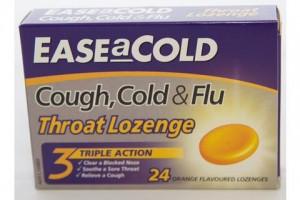 Ease A Cold Cough , Cold & Flu Throat Orange 24 Lozenges