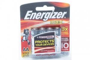 Energizer Max AA PK4 -Alkaline Batteries