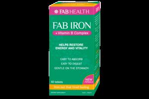 Fab Iron+ Vitamin B Complex 60 Tabletds