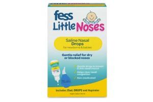 Fess Little Noses Saline Nasal Drops 25 mL+ Aspirator