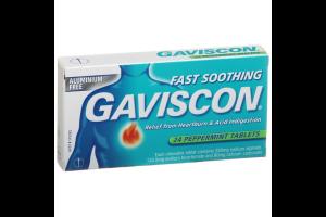 Gaviscon Peppermint Flavour Chewable 24 Tablets