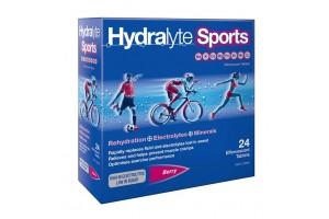 Hydralyte Sports Berry Efferverscent Electrolyte Tablets 24PK