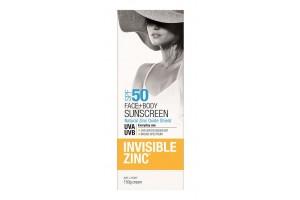 Invisible Zinc SPF 50 Face+ Body Sunscreen 150g