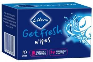Libra Get Fresh Wipes 10 -Flushable & Portable