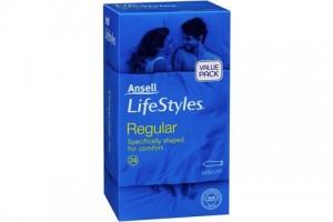Ansell Lifestyles Regular Easy Fit Condoms 24PK