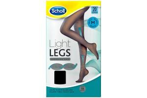 Scholl Light Legs Medium Black 60 Denier  Compression Tights