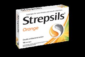 Strepsils Orange 16 Lozenges