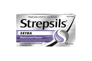 Strepsils Extra Blackcurrant Flavour Throat Lozenges 24PK