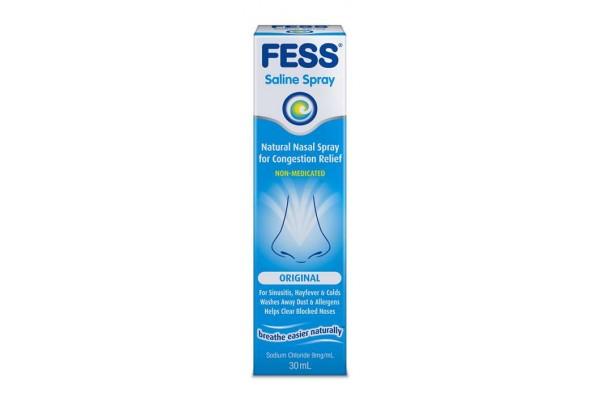 how to use fess saline spray